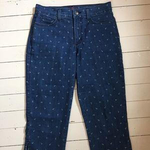 NYDJ Denim Capri/Crop Pant with Anchor Print